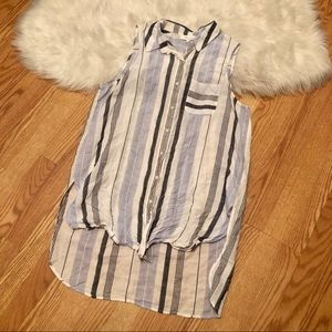Two by Vince Camuto   blue striped tunic